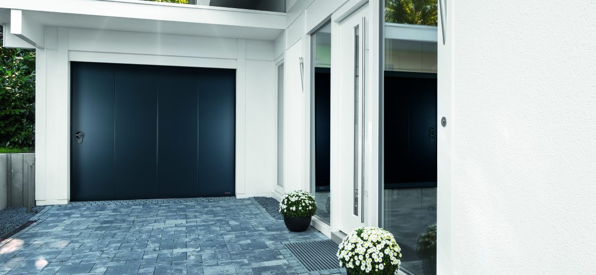 Laterale tendance portillon for Porte de garage aludoor