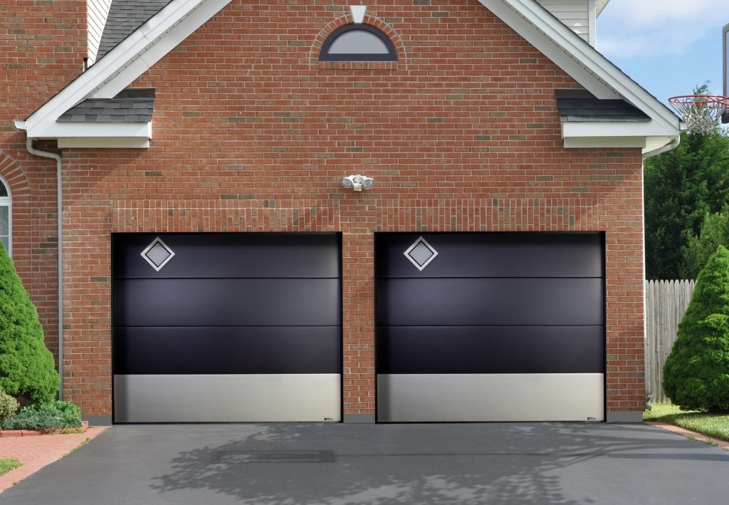 Plafond tendance hublot losange double for Porte de garage aludoor