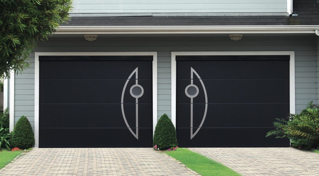 Plafond tendance double insert visio moon for Porte de garage aludoor